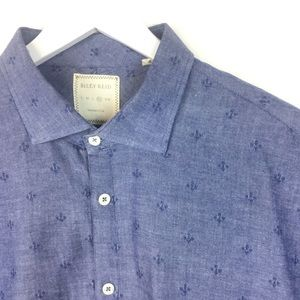 Billy Reid | Textured Chambray Button Front Shirt